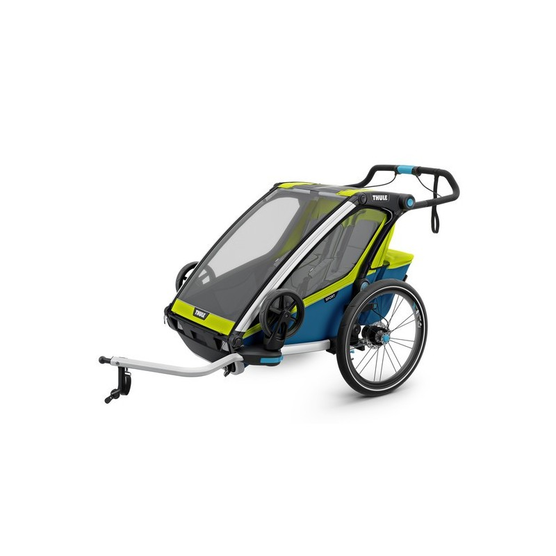 Thule Chariot port 2 double chartreuse